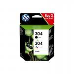 HP 304 - Multipack inkjet originale - nero + colori  - cod. 3JB05AE