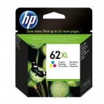 HP 62XL - cartuccia inkjet originale - alta capacità - 3 colori  - cod. C2P07AE