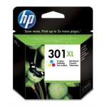 HP 301XL - Cartuccia inkjet originale - alta capacità - 3 colori  - cod. CH564EE