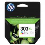 HP 303XL - cartuccia inkjet originale - alta capacità - 3 colori  - cod. T6N03AE