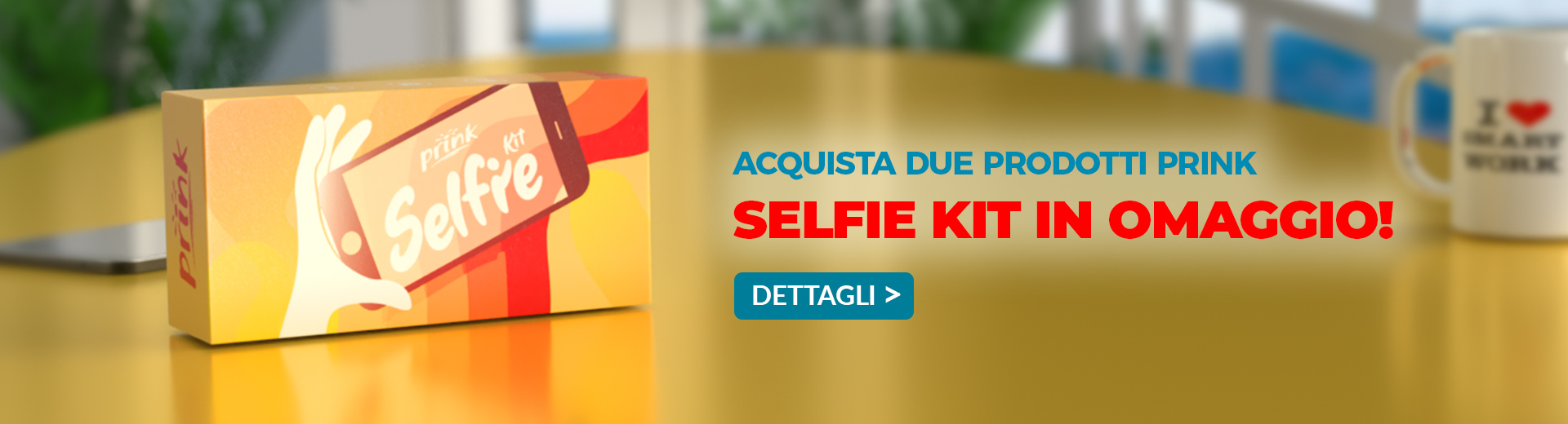 Selfie Kit in omaggio