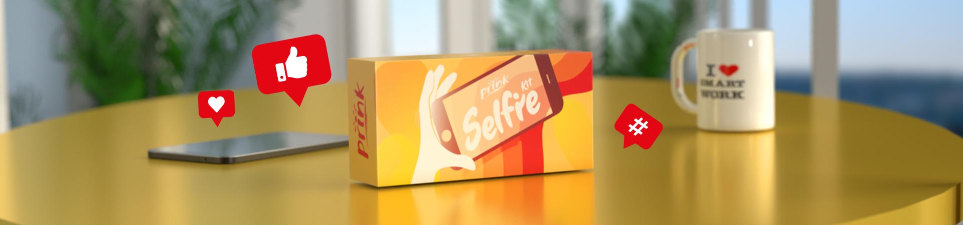 Selfie Kit in omaggio con cartucce o toner Prink