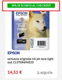 cartucce inkjet originali Epson in promozione