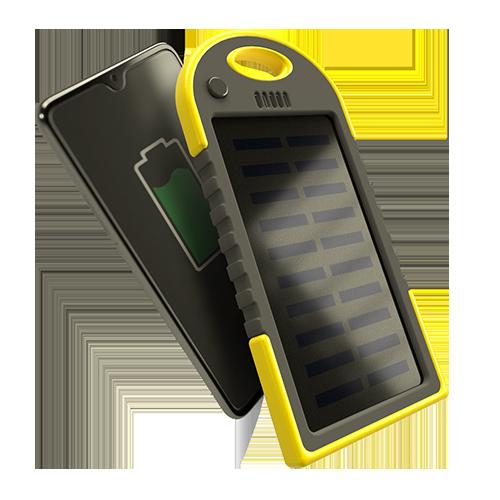 caricabatterie portatile 4000 solare in omaggio