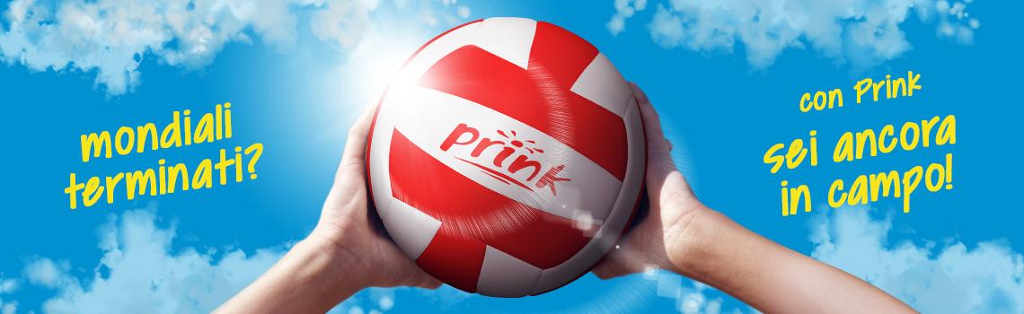 pallone da beach volley in omaggio con cartucce o toner Prink
